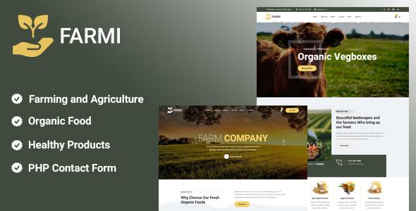 Farmi - Organic Farm Agriculture Template TFx