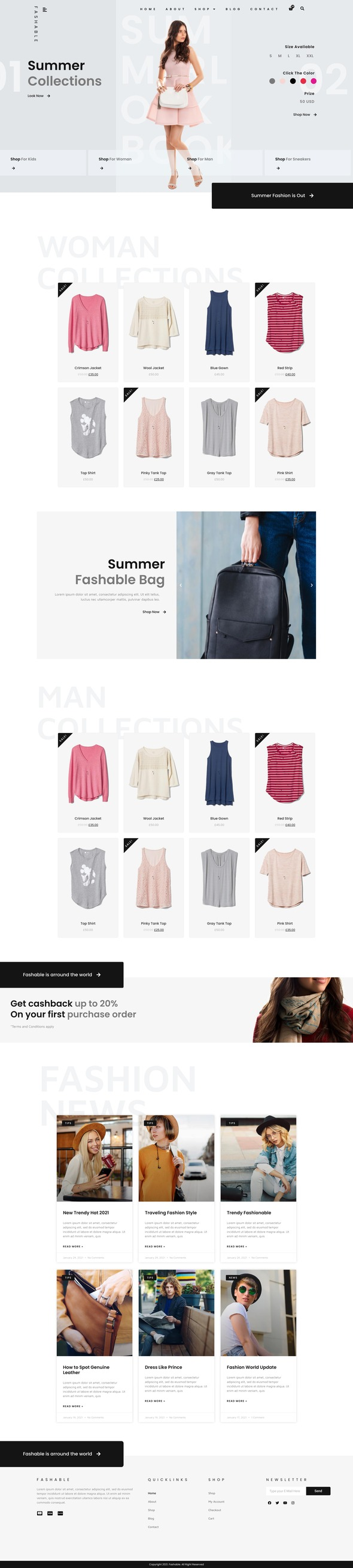 Fashable - Stylist eCommerce Elementor Template Kit TFx
