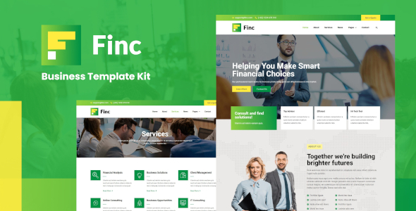 Finc - Business amp Financial Elementor Template Kit TFx