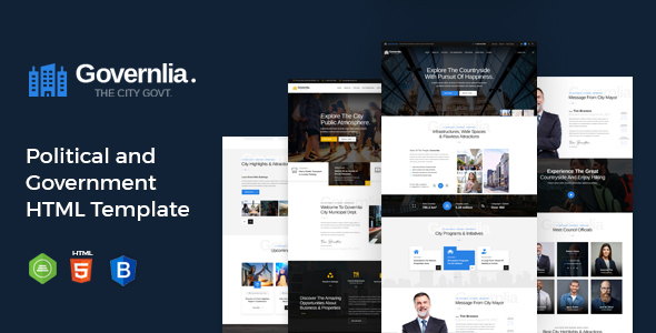 Governlia - Political and Government HTML Template TFx