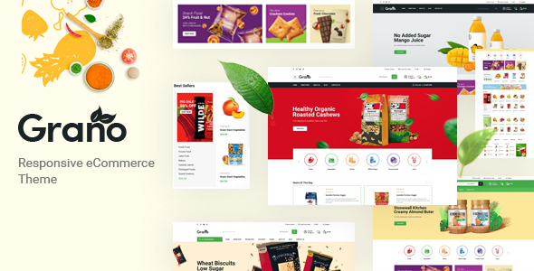 Grano - Organic amp Food Opencart Theme Included Color Swatches TFx