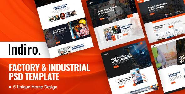 Indiro - Factory amp Industrial PSD Template TFx