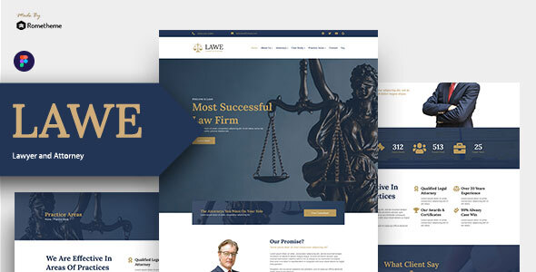 LAWE – Lawyer and Attorney Figma Template TFx