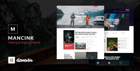 Mancink - Fishing amp Angling WordPress Theme TFx