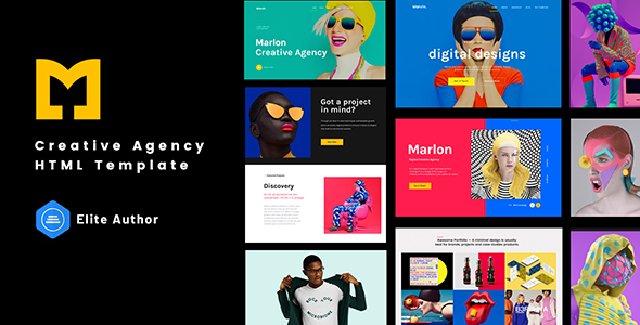 Marlon - Creative Agency Portfolio HTML Template TFx