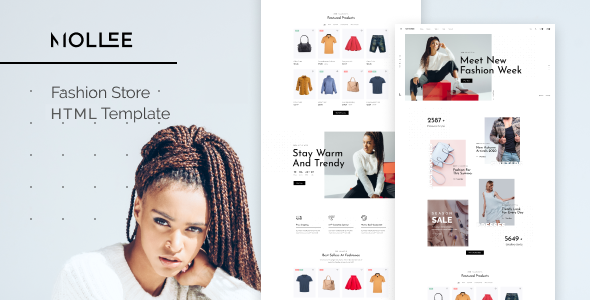 Mollee – Fashion Store HTML Template TFx