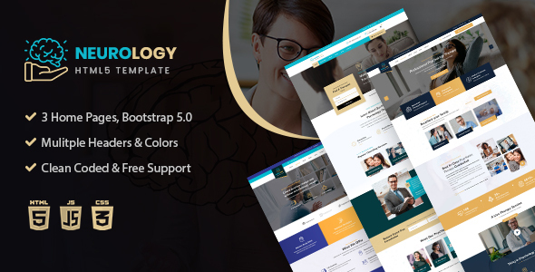 Neurology- Psychology amp Counseling HTML Template TFx