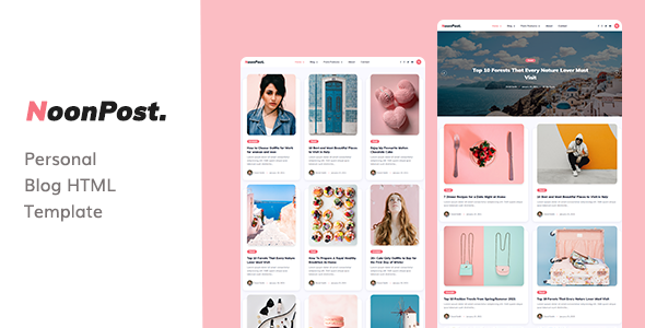 NoonPost - Personal Blog HTML Template TFx
