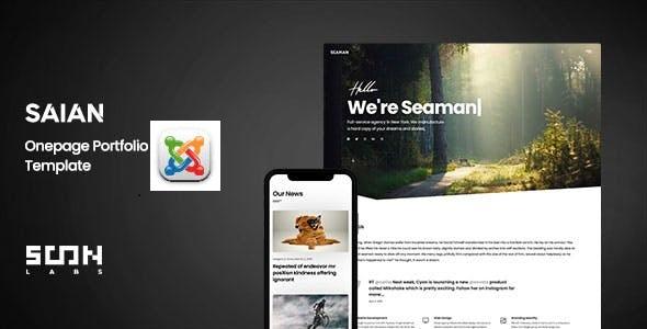 Saian – Creative Portfolio Joomla Template TFx