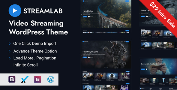 Streamlab - Video Streaming WordPress Theme TFx