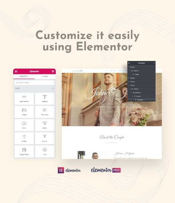 WeddingKit - Invite amp Gallery Event Elementor Template Kit TFx