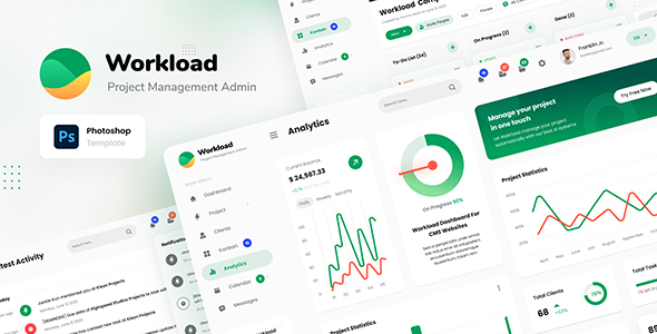 Workload - Project Management Admin Dashboard UI PSD TFx