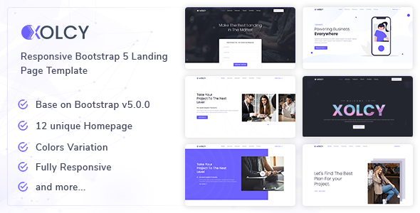 Xolcy - Bootstrap5 Creative Landing Page Template TFx