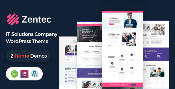 Zentec - IT Solutions Company WordPress Theme TFx