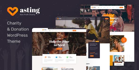 Asting - Charity amp Donation WordPress Theme TFx