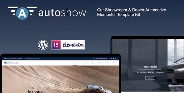 AutoShow - Car Shoowroom amp Dealer Elementor Template Kit TFx