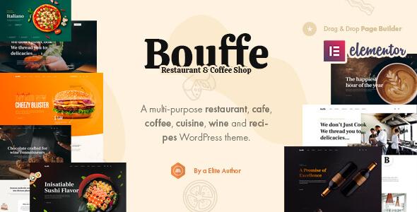 Bouffe - Restaurant amp Cafe WordPress Theme TFx