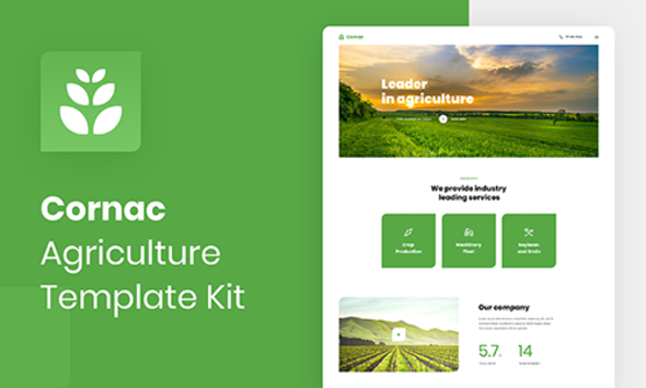 Cornac - Agriculture Elementor Template Kit TFx