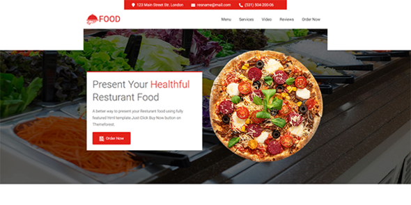 Food - resturant and food landing page TFx