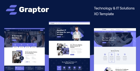 Graptor  Technology amp IT Solutions XD Template TFx
