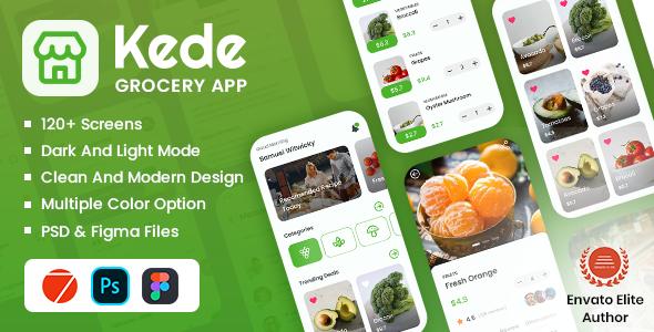 Grocery Mobile App Framework7 TFx SiteTemplates