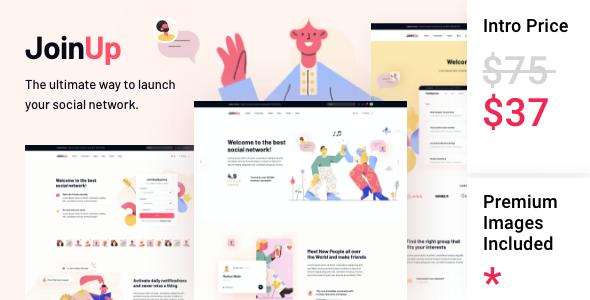 Join Up - BuddyPress Community Theme TFx