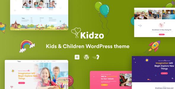Kidzo - Kids amp Children WordPress theme TFx