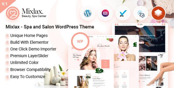 Mixlax - Spa and Salon WordPress Theme TFx