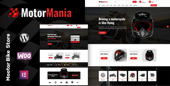 MotorMania - Motorcycle Accessories WooCommerce Theme TFx