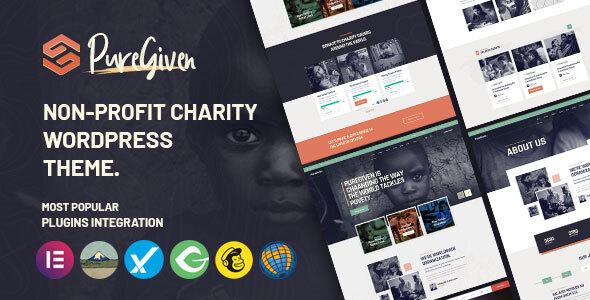Puregiven - Nonprofit Charity WordPress Theme TFx