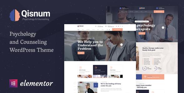Qisnum - Psychology amp Counseling WordPress Theme TFx
