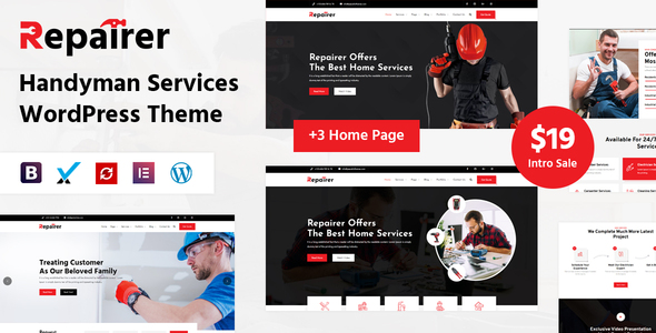 Repairer - Handyman Services WordPress Theme TFx