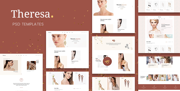 Theresa - Jewelry E-commerce PSD Template TFx