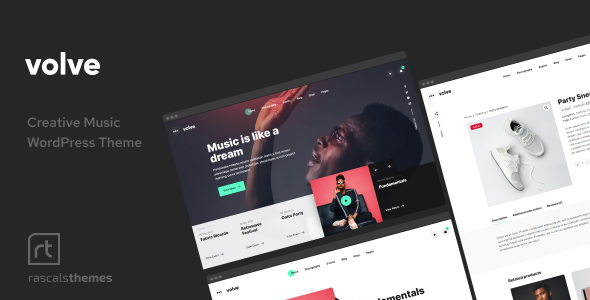 Volve - Creative Music Theme TFx WordPress