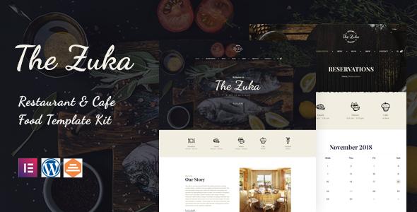 Zukares  Restaurant amp Cafe Food Elementor Template Kit TFx