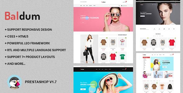 Baldum Fashion Store Prestashop Theme 177x TFx