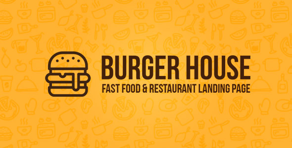 Burger House - Fast Food amp Restaurant One Page HTML Template TFx