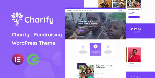 Charify - Fundraising amp Donation WordPress Theme TFx
