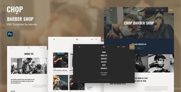 Chop - Barber Shop PSD Template TFx