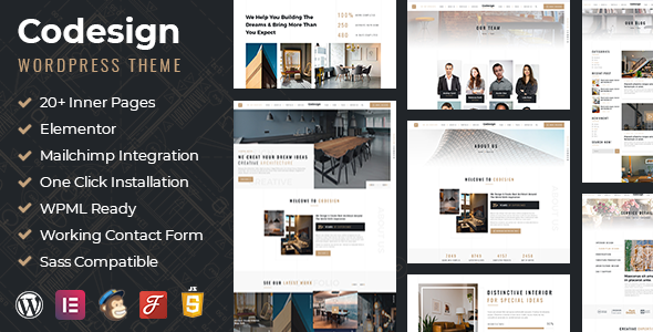 CoDesign - Architect amp Interior WordPress Theme TFx
