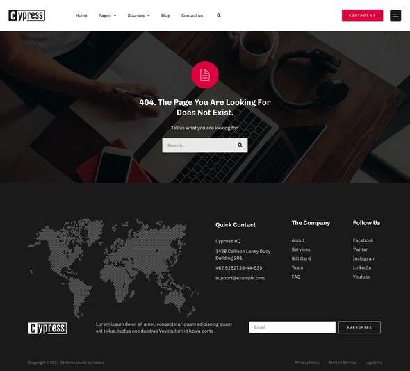 Cypress - Online Learning amp Courses ElementorTemplate Kit TFx