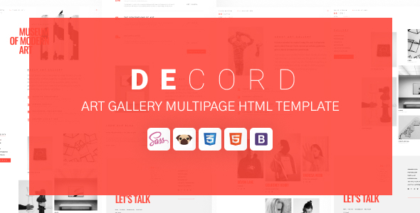 Decord - HTML Art Gallery Template TFx