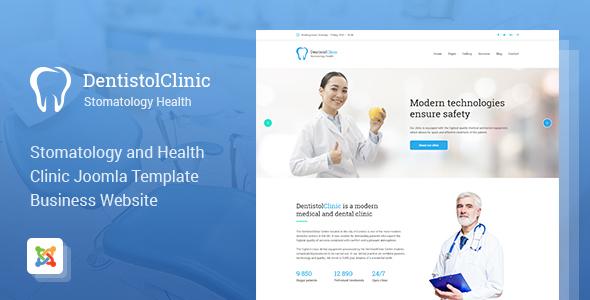 Dentistol  Stomatology Clinic Joomla Template TFx