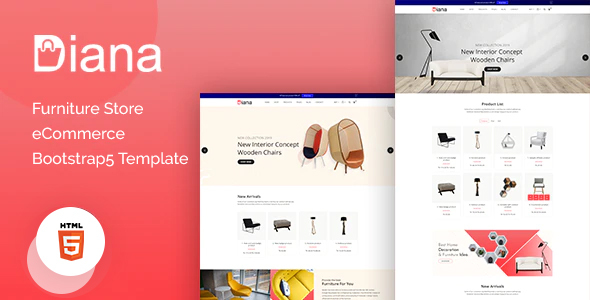 Diana  Furniture Store eCommerce Template TFx