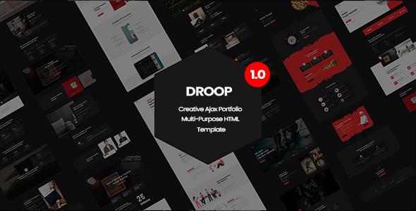 Droop - Creative Ajax Portfolio Multi-Purpose HTML Template TFx