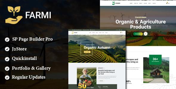 Farmi – Organic Farm Agriculture Joomla Template With Page Builder TFx