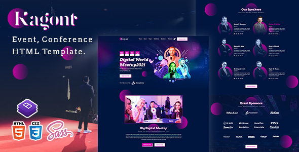 Kagont - Event Conference And Meetup HTML Template TFx