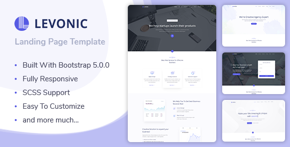 Levonic - Bootstrap 5 Landing Page Template TFx