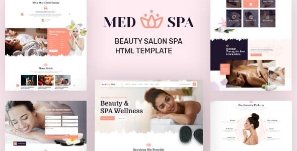MedSpa – Beauty Salon Spa HTML Template TFx