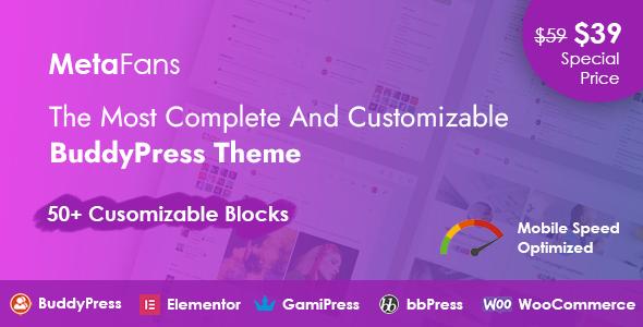 MetaFans - Community amp Social Network BuddyPress Theme TFx